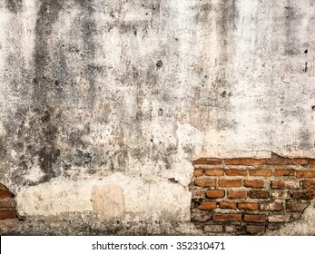 Brick,concrete weathered grunge wall background