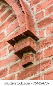 a bricked corbel, part of brickwall