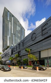 BRICKELL, FL, USA - MAY 1, 2017: Image of Brickell City Centre modern mixed use development at Downtown Brickell Miami FL