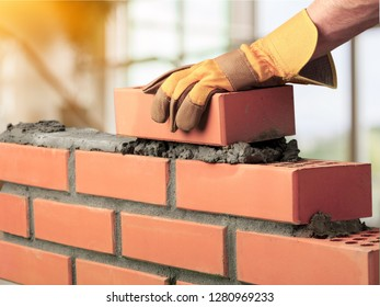 Bricklayer cement masonry build layer house worker