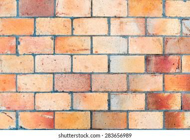 Brick-like pavement texture.