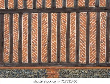 Bricks and beams of a Tudor building