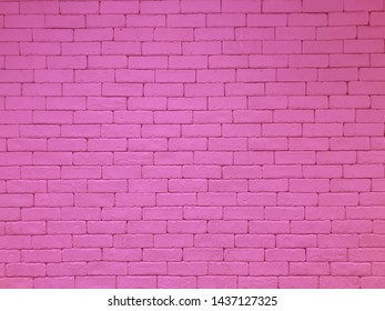 Bricks and concrete texture for pattern abstract background.Pink wall.