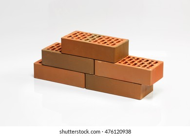 Bricks on white background