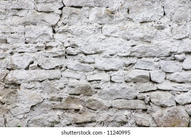 bricks in the white wall