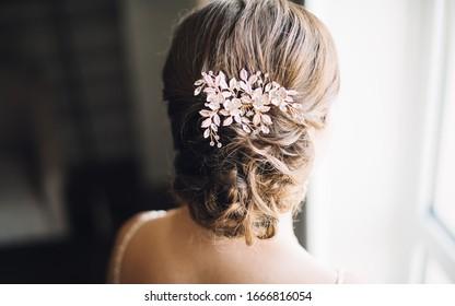 Bridal Bun Hairstyle for Indian Pakistani women