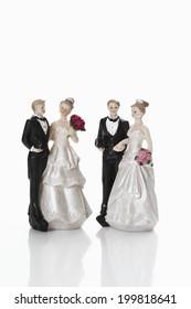 Bridal couple figurines