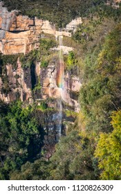 Bridal Falls, Govetts Leap lookout, Blackheath, Blue Mountains, New South Wales, Australia.