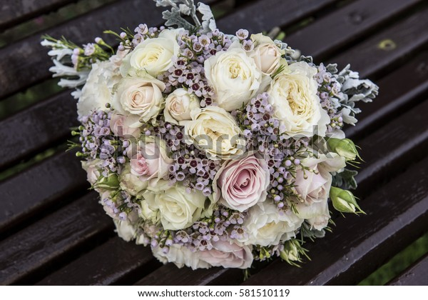 Bridal Flower Bouquet Wedding Day Stock Photo Edit Now 581510119