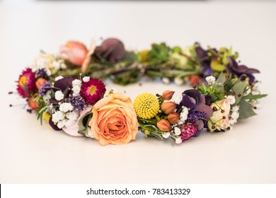 A bridal flower crown