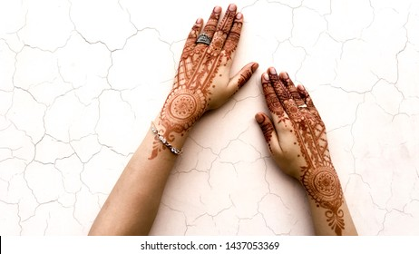 Bridal mehndi- henna tattoo on women hands. mehndi is a traditional indian decorative art. ( mehndi hands)