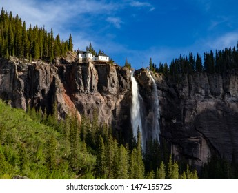 Bridal Veil falls near Telluride, CO, The highest and objectively most captivating waterfall in Colorado.