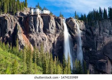Bridal Veil Falls near  Telluride, CO. The tallest waterfall in Colorado.
