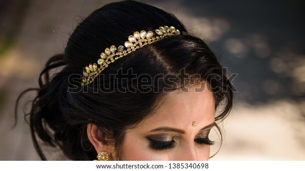 Bridal Wearing Head Crown Jewelry Lahore Stock Photo Edit Now