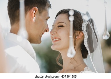 bride admires great time with beloved