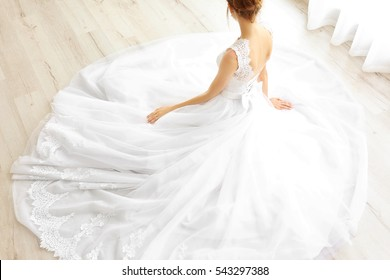 e4693726208 Bride in beautiful wedding gown