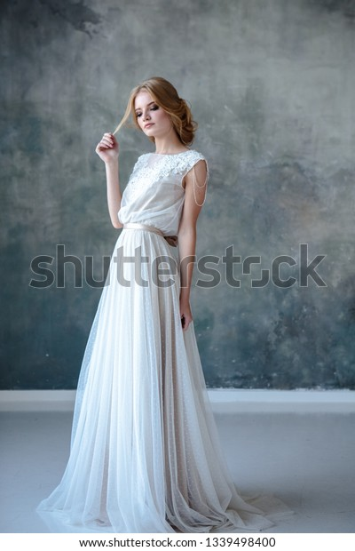 Bride Blonde Woman Modern Color Wedding Stock Photo Edit Now
