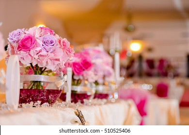 Bride bouquet on the table