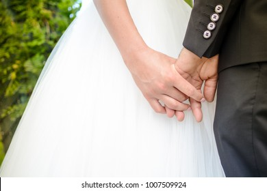 Bride celebrating love with her new husband