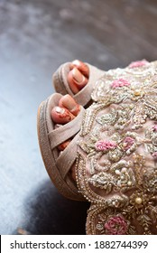 bride foot on pakistan wedding