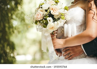 Bride and groom on their wedding