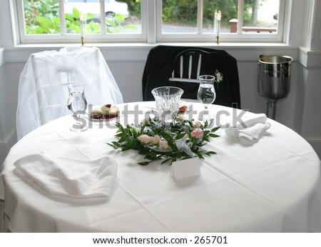 Nice Bride And Groom Table Setting.
