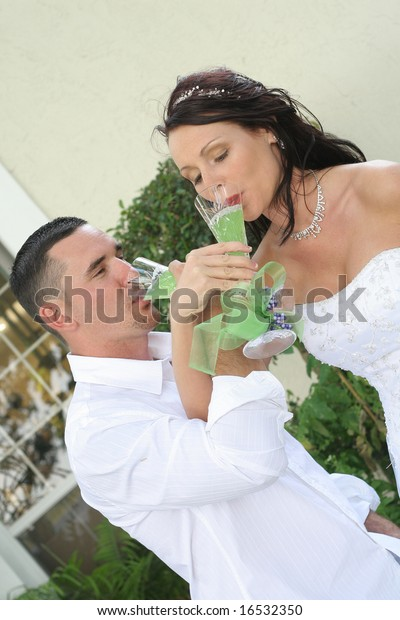 Bride Groom Toast Vertical Stock Photo (Edit Now) 16532350