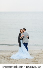 bride and groom. Wedding ceremony near the sea