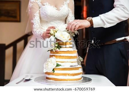 Bride Groom Wedding Reception Cutting Wedding Stock Photo Edit Now