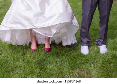 Bride and Groom's Shoes