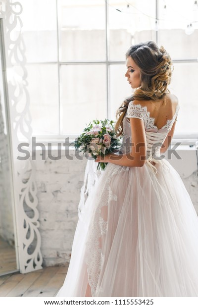 Bride Hairstyle Make Gorgeous Pink Wedding Stock Image Download Now