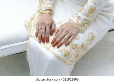 bride hand. wedding
