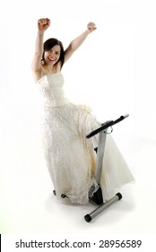 Bride happy to finish training to get in shape for wedding day