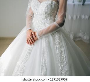 Pronovias Telesto Backless Long Sleeve Lace Sheath Wedding Dress