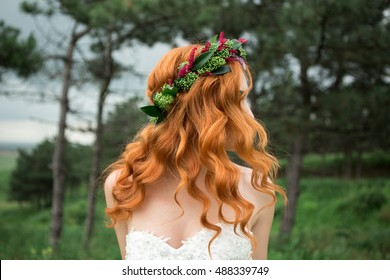 Bride in the park.