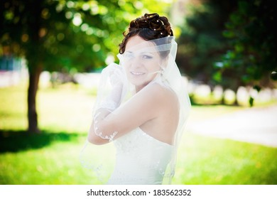 bride in the park one