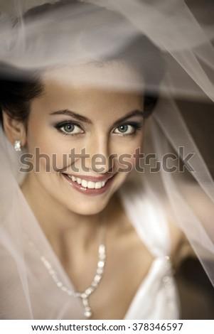 bride portrait color