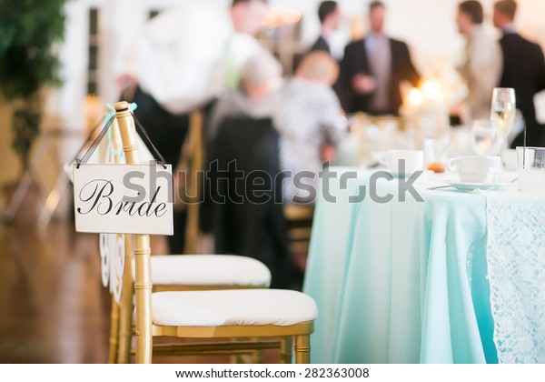 Bride Sign Hanging Chair Wedding Reception Stock Photo (Edit Now ...