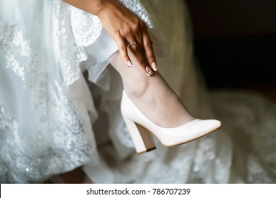 Beautiful Wedding Shoes Stock Photos Images Photography