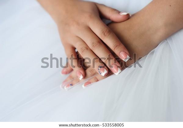 Bride wedding details - wedding dress