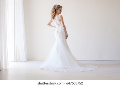 bride wedding gown white wedding love 1