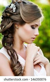 Bride. Wedding hairstyle