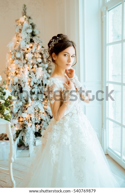 Bride Wedding Bride Short Dress Lace Royalty Free Stock Image