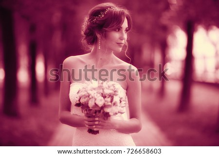 a49a22a8d201 Bride White Dress Wedding Beautifully Solemn Stock Photo (Edit Now ...