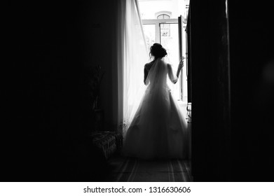 Bride and window