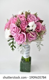 The bride's bouquet of flowers. Product photography.