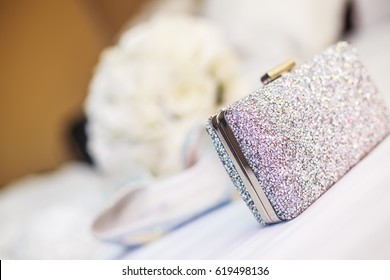 Bride's clutch bag
