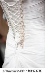Bride's Corset Lacing. Back View.