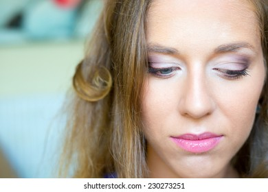 Brides makeup or visage  for wedding ceremony