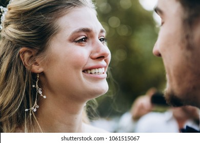 Bride's tears of happiness